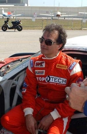 Centric Parts CEO Dino Crescentini prepares to race to the podium in St. Petersburg