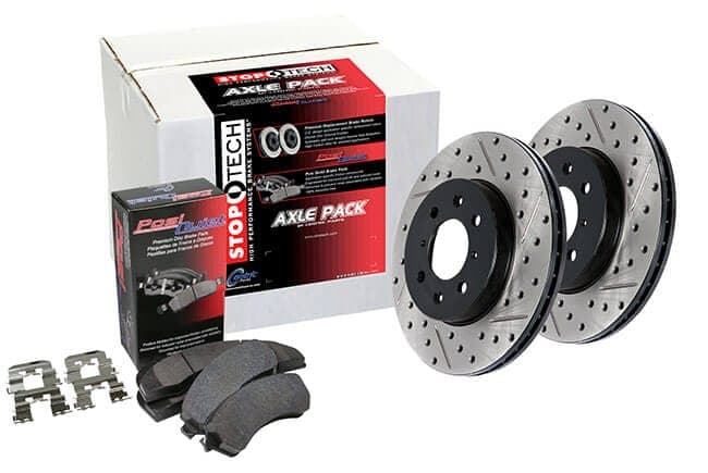 Slotted Rear Stoptech 937.51501 Street Axle Pack