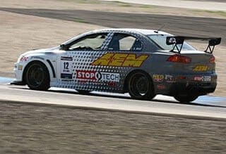 The StopTech Mitsubishi Evo X at the Las Vegas Speedway winning the 2010 Time Attack Series Round 3