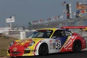 Patrick Long and his StopTech equipped Porsche 911 GT3 takes first place in both races during opening weekend of the 2011 World Challenge series