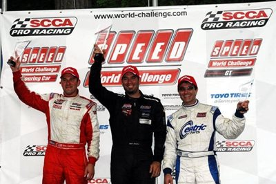 StopTech CEO, Dino Crescentini, on the podium (right) at Road America Grand Prix